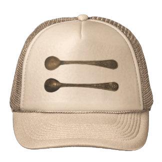vintage metal spoons hats