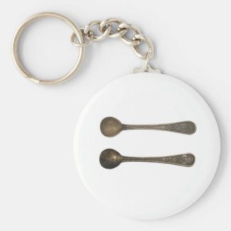 vintage metal spoons key chain