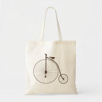 Vintage Metallic High Wheel Antique Bicycle Tote Bag