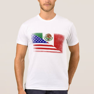 Vintage Mexican American Grunge Flag White T-Shirt