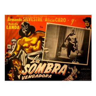 Vintage Mexican Masked Hero Lobby Cars Post Cards