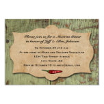 Vintage Mexican Red Chili Peppers Party 3.5x5 Paper Invitation Card