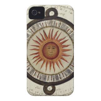 Vintage mexicano 1790 de Sun del reloj de sol del iPhone 4 Case-Mate Carcasas