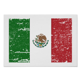 Vintage Mexico Flag Poster