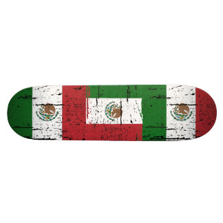 Vintage Mexico Flag Skateboard