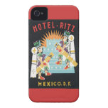 Vintage Mexico Hotel Case-Mate iPhone 4 Cases
