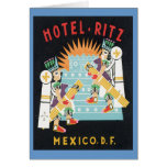 Vintage Mexico Hotel Greeting Card