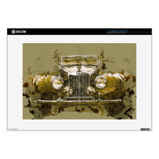 "Vintage MG Sports Car 15"" Laptop Decal"