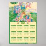 Vintage mi pequeño calendario del potro 2013 poster