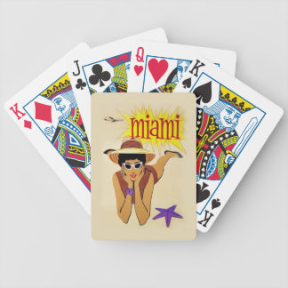 Vintage Miami Beach Bicycle Playing Cards