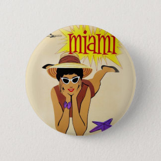 Vintage Miami Beach Button