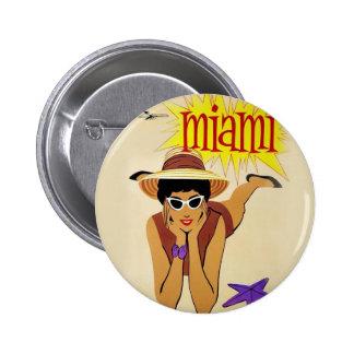 Vintage Miami Beach Button
