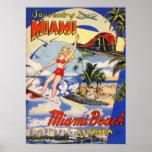 Vintage Miami Beach Florida Travel Poster