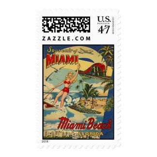 Vintage Miami Beach, Florida, USA - Postage