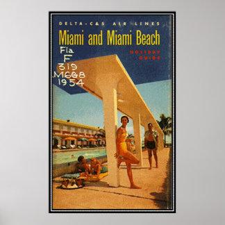 Vintage Miami Beach, Florida, USA - Posters