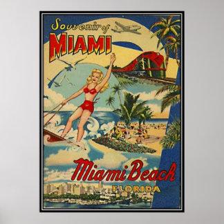 Vintage Miami Beach, Florida, USA - Poster