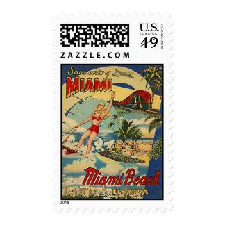 Vintage Miami Beach, Florida, USA - Stamps