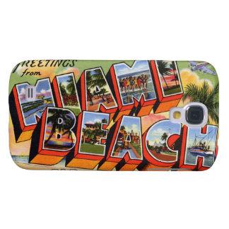 Vintage Miami Beach Galaxy S4 Case