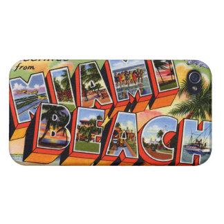 Vintage Miami Beach iPhone 4/4S Cover