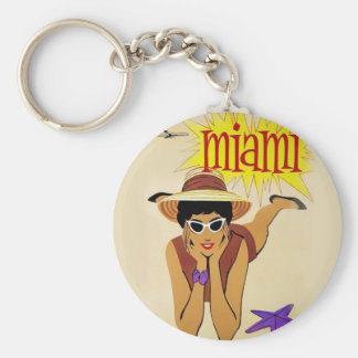 Vintage Miami Beach Keychain