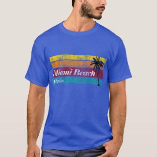 Vintage Miami Beach la Florida de la puesta del Playera