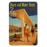Vintage Miami Beach, la Florida, los E.E.U.U. - Iman