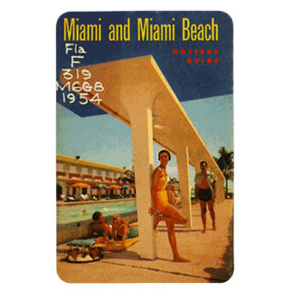 Vintage Miami Beach, la Florida, los E.E.U.U. - Imán Foto Rectangular