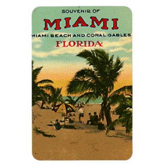 Vintage Miami Beach, la Florida, los E.E.U.U. - Iman De Vinilo