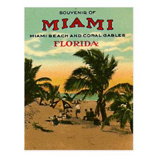Vintage Miami Beach, la Florida, los E.E.U.U. - Postales