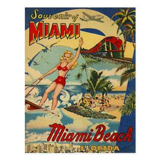 Vintage Miami Beach, la Florida, los E.E.U.U. - Tarjeta Postal
