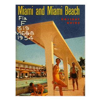 Vintage Miami Beach la Florida los E E U U - Postales