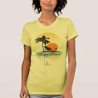 Vintage Miami Beach Palm Tree Silhouette T-Shirt