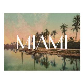 Vintage Miami beach photo wanderlust travel hipste Postcard