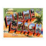 vintage, vintage postcard, miami beach, miami