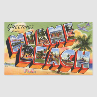 Vintage Miami Beach Sticker