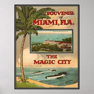 Vintage Miami, la Florida, los E.E.U.U. - Impresiones