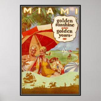 Vintage Miami, la Florida, los E.E.U.U. - Posters