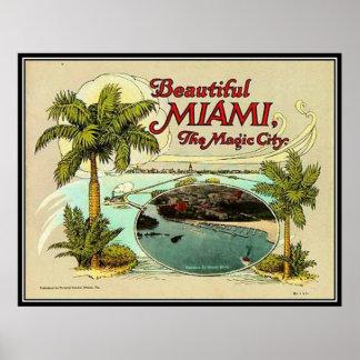 Vintage Miami, la Florida, los E.E.U.U. - Poster