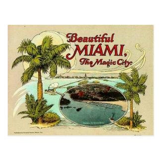 Vintage Miami, la Florida, los E.E.U.U. - Postal