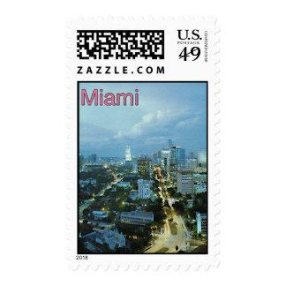 Vintage Miami, la Florida, los E.E.U.U. - Sello
