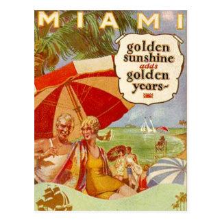 Vintage Miami, la Florida, los E.E.U.U. - Tarjeta Postal