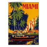 Vintage Miami, la Florida, los E.E.U.U. - Tarjetón