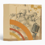 vintage mic y cuaderno de la placa giratoria