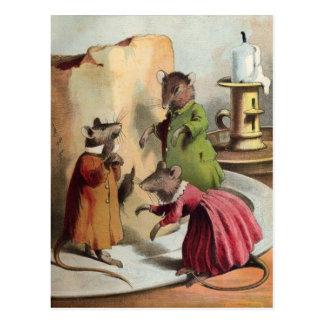 Vintage - Mice & Cheese Postcard