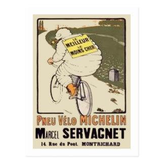 Vintage Michelin le Meilleur le Mons Cher Ad Marce Postcard