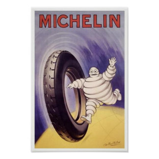 Vintage Michelin TIres Ad 2 Print