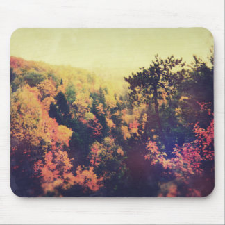 Vintage Michigan Autumn Trees Mouse Pad