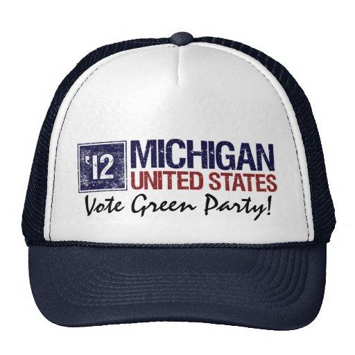 Vintage Michigan del Partido Verde del voto en 201 Gorros