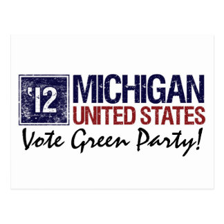 Vintage Michigan del Partido Verde del voto en 201 Tarjetas Postales