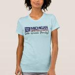 Vintage Michigan del Partido Verde del voto en Camiseta